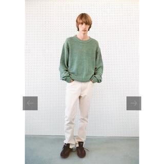 アレッジ(ALLEGE)のErnie palo 21ss linen rib knit 48(ニット/セーター)