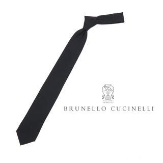 ブルネロクチネリ(BRUNELLO CUCINELLI)の新品 定価3.0万円 ブルネロ クチネリ ネイビーソリッドタイ(ネクタイ)