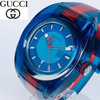 グッチ(Gucci)の【訳あり大特価】定価6.4万 GUCCI 腕時計 新品 メンズ/ユニセックス(ラバーベルト)