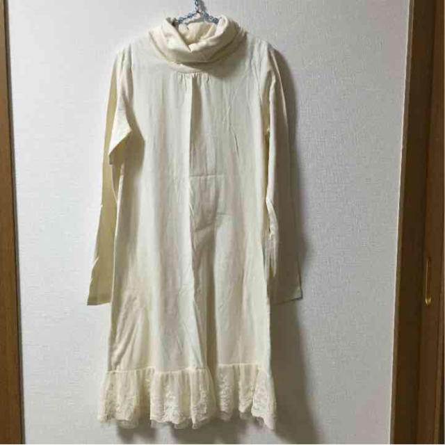 chocol raffine robe(ショコラフィネローブ)の新品未使用★ロングタートルネック,オフホワイト・M レディースのトップス(ホルターネック)の商品写真