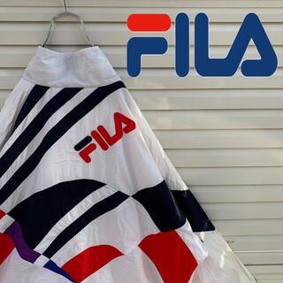 FILA - 送料無料!! フィラ 刺繍ロゴ バックロゴ ゆるだぼ 90s ナイロン ブルゾン