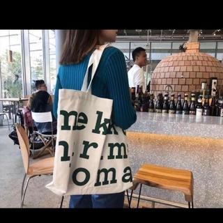 【最終お値下】白地 緑文字 エコバッグ トートバッグ(トートバッグ)