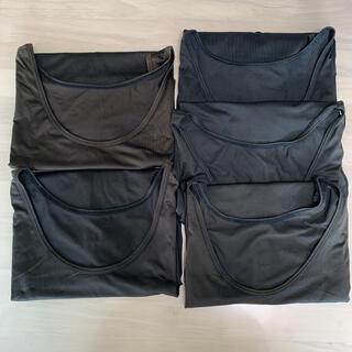 ユニクロ(UNIQLO)のユニクロ アンダーシャツ 肌着 下着 タンクトップ 夏 メンズ Lサイズ 5枚(その他)