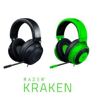 レイザー(LAZER)のゲーミングヘッドセット Razer Kraken black 冷却ジェルパッド付(ヘッドフォン/イヤフォン)