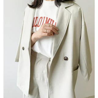 Lian マーブリングリネンライクジャケット(テーラードジャケット)