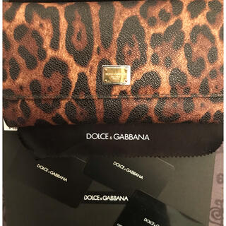 ドルチェアンドガッバーナ(DOLCE&GABBANA)の美品 ドルチェ&ガッバーナ 長財布 レオパード柄 ヒョウ柄(財布)