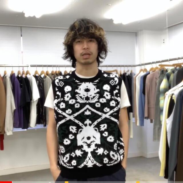 Jieda(ジエダ)のttt msw ニットベスト メンズのトップス(ニット/セーター)の商品写真