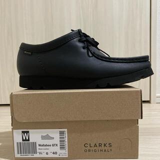 クラークス(Clarks)のClarks Wallabee GTX  ブラックレザー(スリッポン/モカシン)