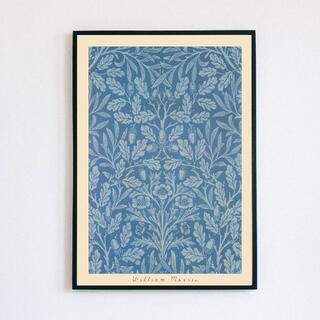 【アートポスター】ウィリアムモリス ブルー 抽象画 柄(アート/写真)