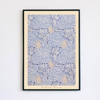 【アートポスター】ウィリアムモリス ブルー 抽象画 選べるサイズ おしゃれ(アート/写真)