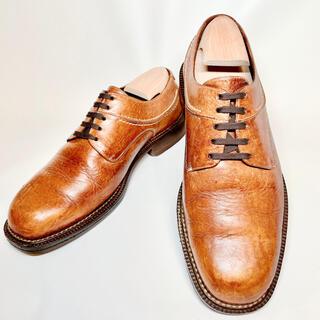 コールハーン(Cole Haan)のCOLE HAAN 24.5cm プレーントゥ 外羽根 ビジネスシューズ 本革(ローファー/革靴)