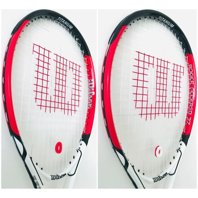 wilson(ウィルソン)の【新品同様】ウィルソン『ロジャーフェデラー/FEDERER 27』テニスラケット スポーツ/アウトドアのテニス(ラケット)の商品写真