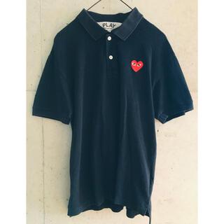 COMME des GARCONS - 【★正規★希少★メンズM】プレイコムデギャルソン 黒 ポロシャツ 予備ボタン付き