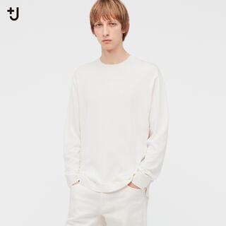 ユニクロ(UNIQLO)のユニクロ +J シルクコットンクルーネックセーター ホワイト XXL(ニット/セーター)