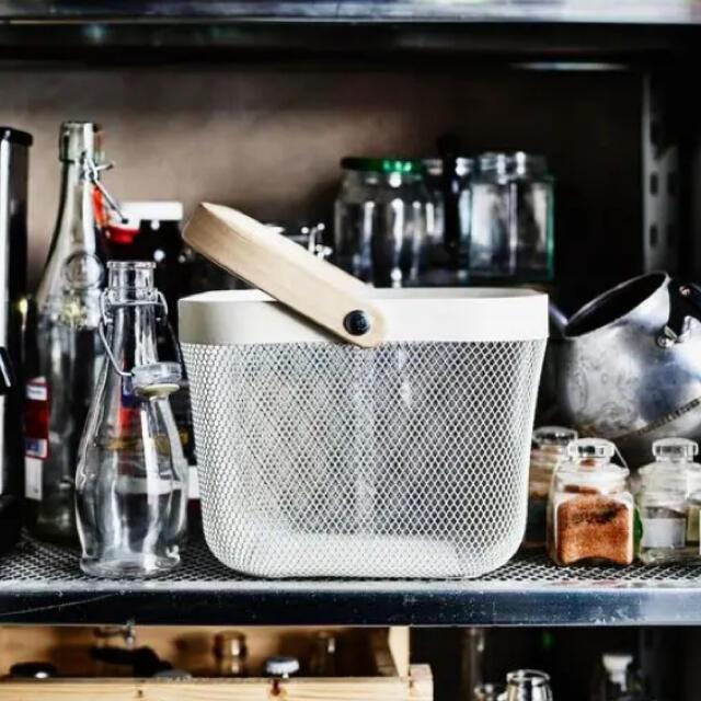 IKEA(イケア)のIKEA  RISATORP リーサトルプ バスケット グレー 【新品】 インテリア/住まい/日用品のインテリア小物(バスケット/かご)の商品写真