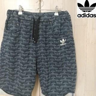 adidas - 【人気サイズ】adidas アディダス デニム風 ハーフパンツ 幾何学柄