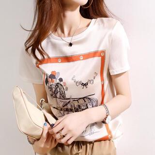 グレースコンチネンタル(GRACE CONTINENTAL)のTシャツ 白 レトロ (Tシャツ/カットソー(半袖/袖なし))