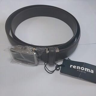 レノマ(RENOMA)のrenoma レノマ ブランド ベルト ブラウン 革 牛革 新品(ベルト)