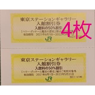 2枚 東京ステーションギャラリー 入館50%割引券 JR東日本 株主優待券(美術館/博物館)