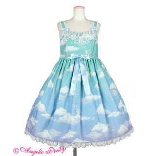 アンジェリックプリティー(Angelic Pretty)のMisty Sky ジャンパースカートangelic pretty(ひざ丈ワンピース)