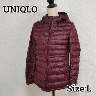 ユニクロ(UNIQLO)のUNIQLO ユニクロ ウルトラライトダウンパーカー ワインレッド L(ダウンジャケット)