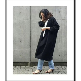 DEUXIEME CLASSE - 美品 ドゥーズィエムクラス  トリアセジョーゼット  オーバーコート コート