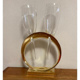 モエエシャンドン(MOËT & CHANDON)のモエ エ シャンドン ノベルティ サークルスタンド付きのペアグラス 送料無料(グラス/カップ)