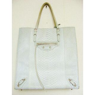 Balenciaga - バレンシアガパイソンスネークレザー蛇皮革ザペーパーA5サイズトートハンドバッグ鞄