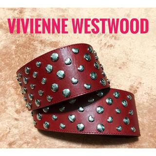 ヴィヴィアンウエストウッド(Vivienne Westwood)のヴィヴィアンウエストウッド【美品】《ベルト》オーブ柄 ハート スタッズ ベルト(ベルト)