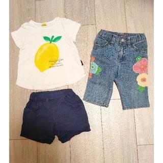 ベビーギャップ(babyGAP)のムージョンジョン90cmシャツ&短パン、BABYGAP90cm7分丈デニム(パンツ/スパッツ)