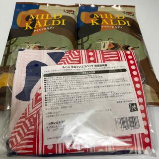 カルディ(KALDI)のマイルドカルディ 2袋 もへじ手ぬぐい セット(コーヒー)