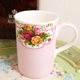 ロイヤルアルバート(ROYAL ALBERT)の未使用、ロイヤルアルバート、ローズカメオマグカップ(食器)