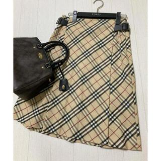 バーバリー(BURBERRY)の美品 バーバリー ロンドン スカート チェック ベージュ(ひざ丈スカート)
