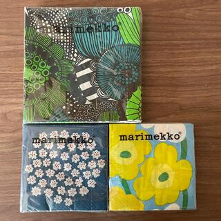 マリメッコ(marimekko)のマリメッコ ペーパーナプキン 新品未使用 3個セット(収納/キッチン雑貨)