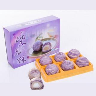台湾 台中 お土産 躉泰 紫晶酥 お餅タロイモケーキ 6個入り(菓子/デザート)