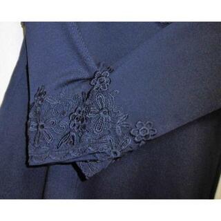 ギャラリービスコンティ(GALLERY VISCONTI)の新品定価16390円 ギャラリービスコンティM胸元お袖レース チュニック2掲載紺(チュニック)