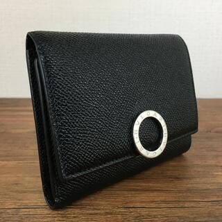 ブルガリ(BVLGARI)の未使用品 BVLGARI 三つ折り財布 ブラック ブルガリ 468(折り財布)