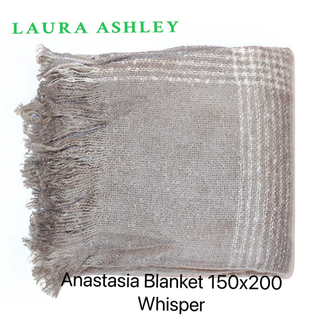 ローラアシュレイ(LAURA ASHLEY)のアナスタシア ブランケット/スロー 薄毛布 150CM ×200CM(毛布)