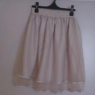 リズリサ(LIZ LISA)の新品タグ付き! リズリサ オーガンジースカート(ひざ丈スカート)