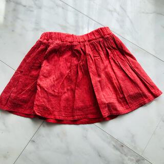 ユニクロ(UNIQLO)のユニクロ 赤 スカート s  110〜125(スカート)