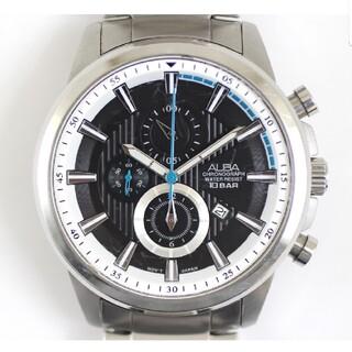 アルバ(ALBA)のアルバ クロノグラフ YM92-X269 アラーム クォーツ ビッグサイズOH済(腕時計(アナログ))