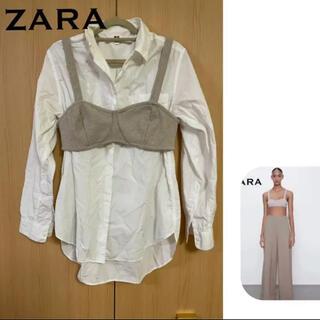 ザラ(ZARA)のZARA クロップド丈 トップス ビスチェ(ベアトップ/チューブトップ)