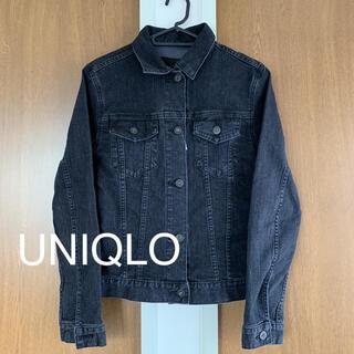 ユニクロ(UNIQLO)のUNIQLO ストレッチブラックデニムジャケット Gジャン(Gジャン/デニムジャケット)