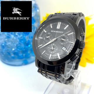 バーバリー(BURBERRY)のバーバリー メンズ腕時計 クロノグラフ デイト入り 美品+新品電池+箱付きです☆(腕時計(アナログ))