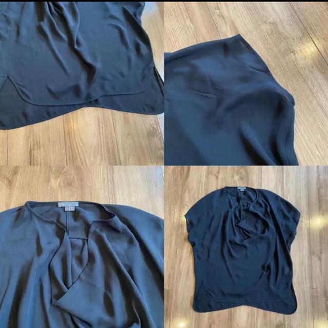 Vince(ビンス)のVince ヴィンス シルク100 ドレープ デザインブラウス S レディースのトップス(シャツ/ブラウス(半袖/袖なし))の商品写真