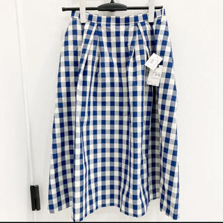 ケイタマルヤマ(KEITA MARUYAMA TOKYO PARIS)の新品タグ付き!定価36300円 ケイタマルヤマ ネイビー チェック スカート(ロングスカート)