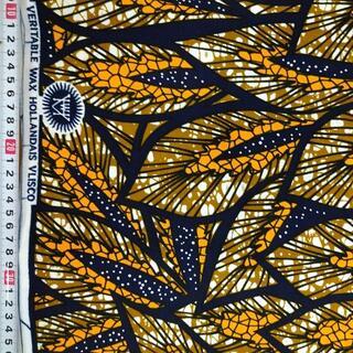 108 オレンジ ブラウン アフリカ布 50cm x 110cm バオバブ神戸(生地/糸)
