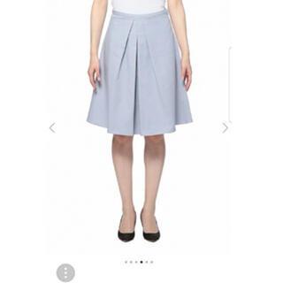 プラステ(PLST)のプラステ スカート アイスブルー PLST Aラインスカートタックスカート(ひざ丈スカート)