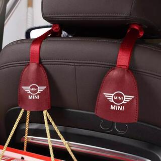 BMW - *新品*BMW MINI ミニクーパー 高品質レザー シートフック レッド