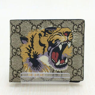 Gucci - ✨販売証明書あり✨GUCCI タイガー 虎 アニマリエ GGスプリーム 折り財布